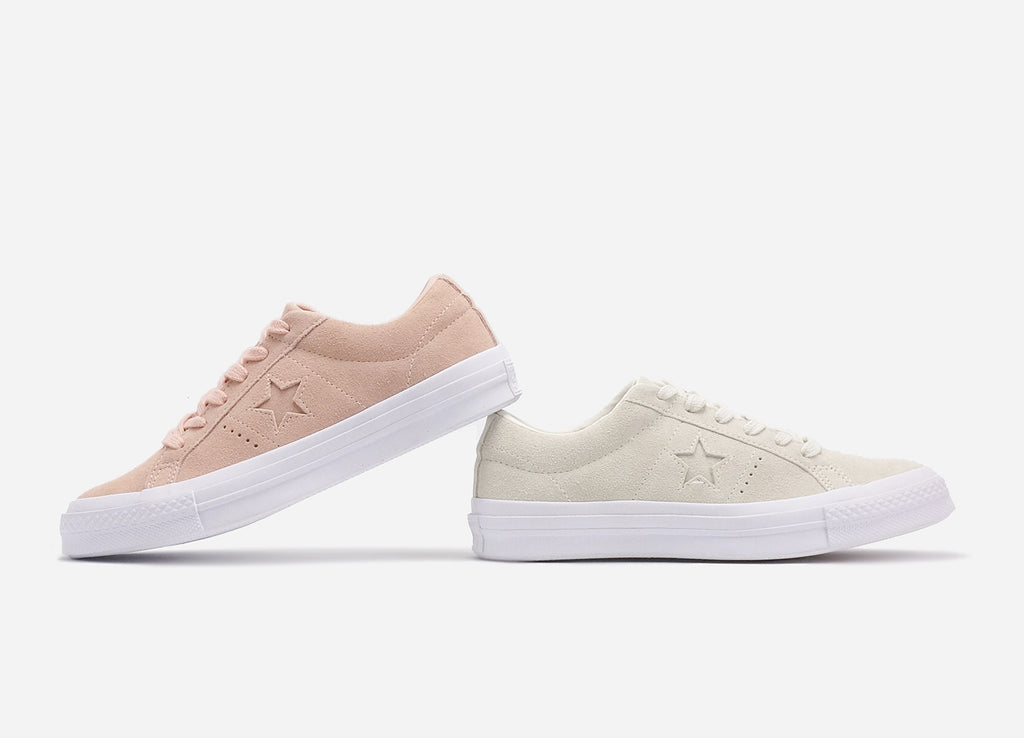 Converse One Star Suede Dust Pink & Egret