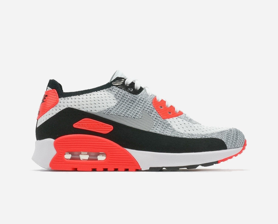the best attitude 2afe6 74224 Nike Women s Air Max 90 Ultra 2.0 Flyknit Infrared White Wolf Grey