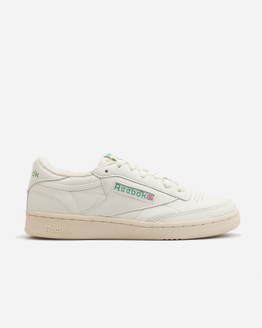 Reebok Club C 1985 Tv Chalk/Paper White/Green Womens Sneaker DV6434
