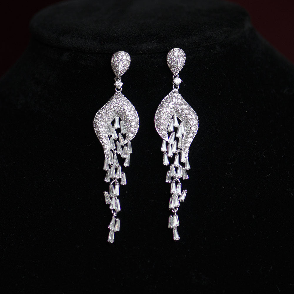 Bridal earrings warehouse celebrity micro paved chandelier celebrity chandelier micro paved earrings cubic zirconia bridal earrings arubaitofo Images