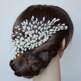 Pearls Tree Handmade Headpiece Gold Bridal Hair Comb