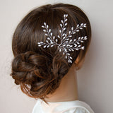 Maple Pearl Wedding Hair Pin, Handmade Bridal Headpiece