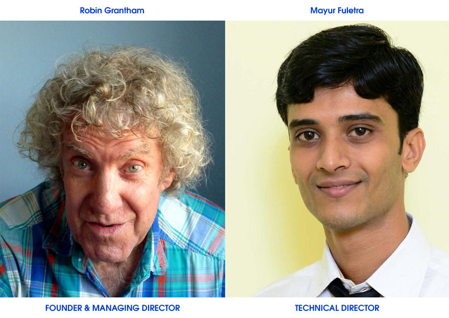 Robin Grantham, Founder & MD and Mayur Fuletra Technical Director