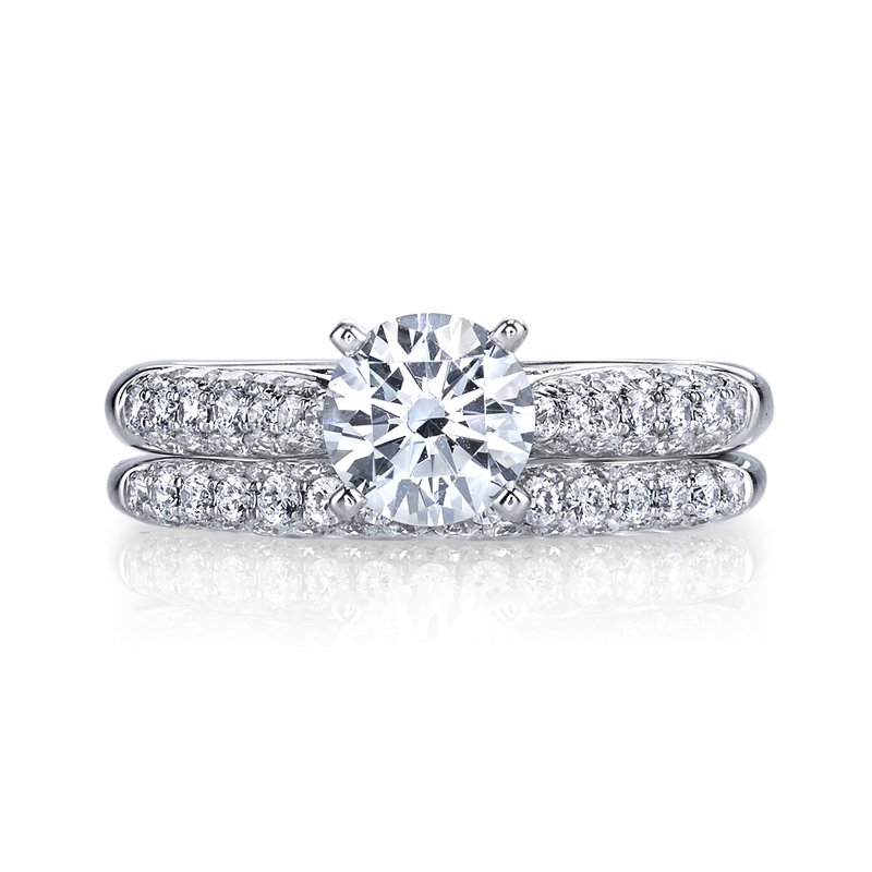 Mars Jewelry Engagement Ring W Domed Micro Pave Setting 25447 Cirelli Jewelers