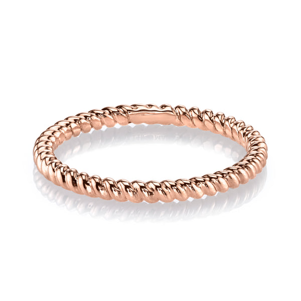 Mars Jewelry 14K Rose Gold Twist Stackable Band 26970RG