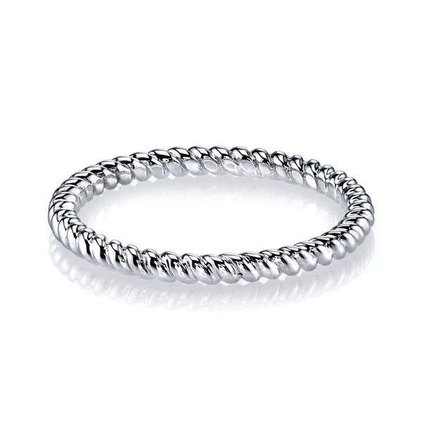 Mars Jewelry 14K White Gold Twist Stackable Band 26970WG