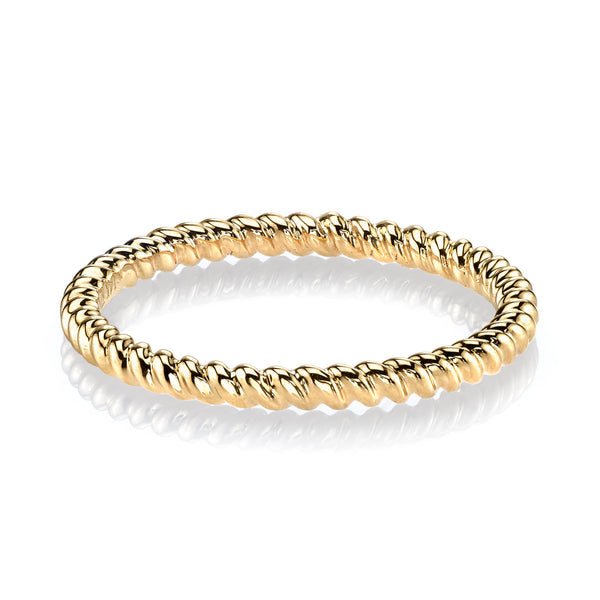 Mars Jewelry 14K Yellow Gold Twist Stackable Band 26970YG