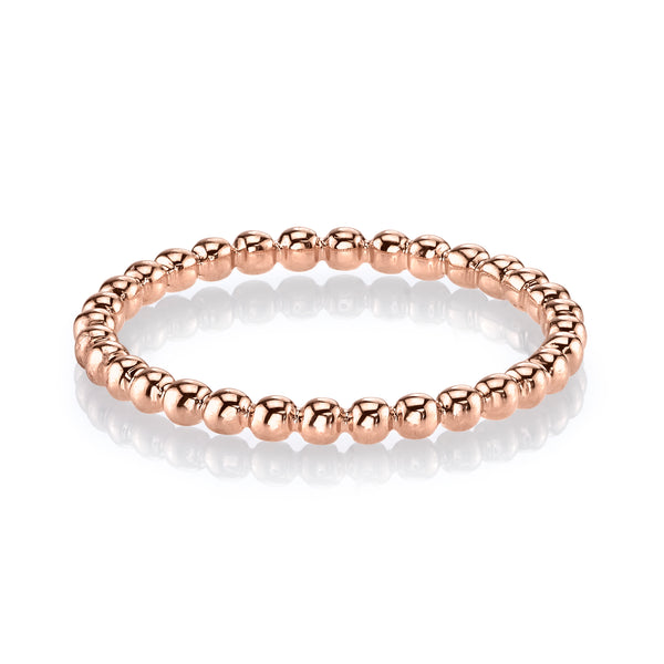 Mars Jewelry 14K Rose Gold Bubble Stackable Band 27029RG
