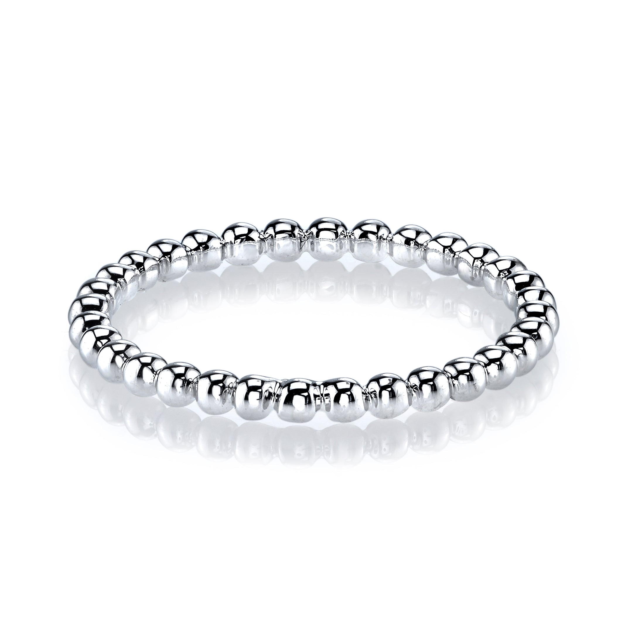 Mars Jewelry 14K White Gold Bubble Stackable Band 27029WG