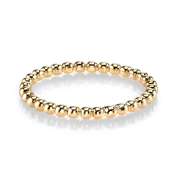 Mars Jewelry 14K Yellow Gold Bubble Stackable Band 27029YG