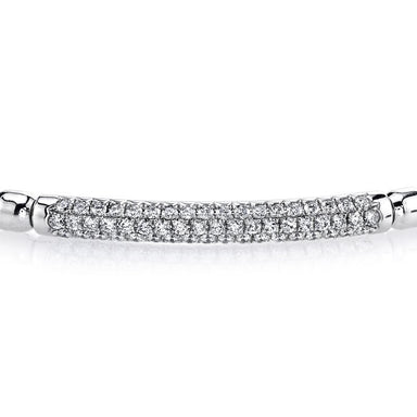 Mars Jewelry 18K White Gold Flexi-Link Bracelet w/ Diamonds Accents 26559