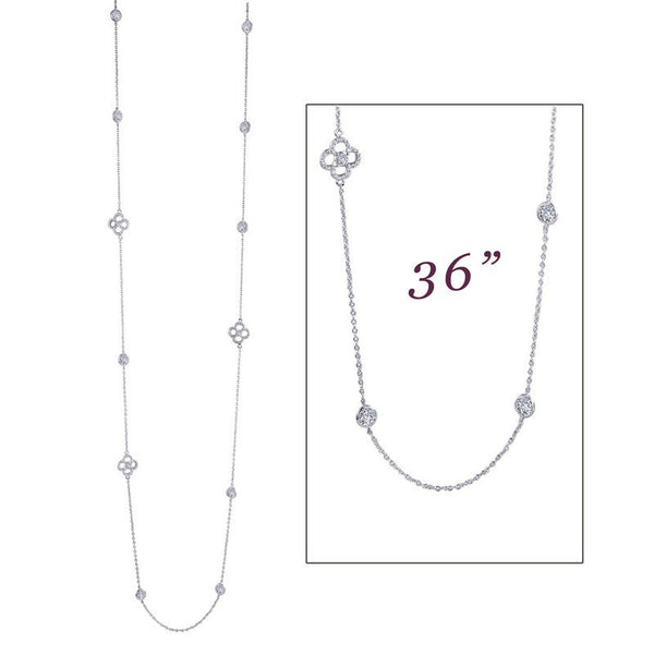 Lafonn Signature Lassaire Simulated Diamond By The Yard Necklace N0085CLP