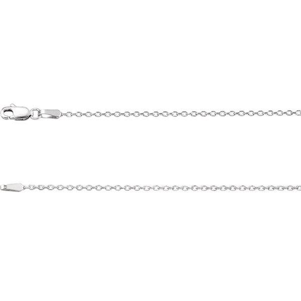 14K Gold 1.4mm Diamond-Cut Cable Chain with Lobster Closure