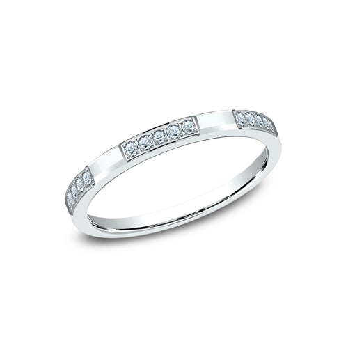 Benchmark 25 Pave Set Diamond Wedding Band 522851