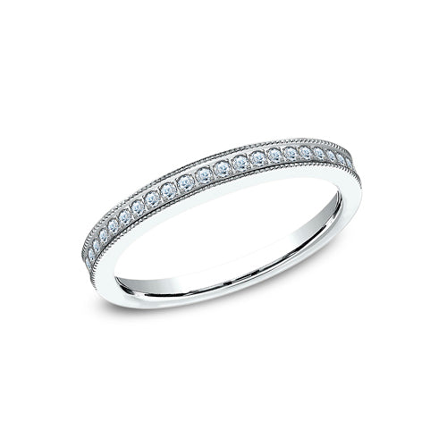 Benchmark 23 Pave Set Diamond w/Milgrain Edges Wedding Band 542573