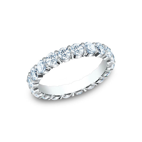Benchmark Shared Prong Set Diamond Eternity Wedding Band 5535023