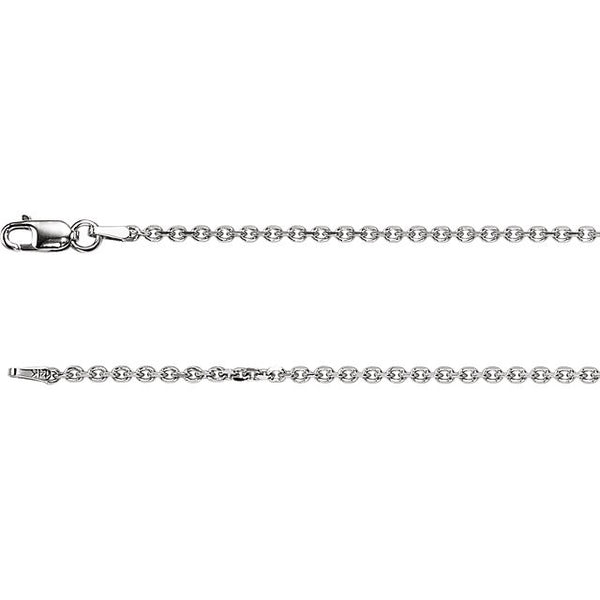 14K Gold 1.75mm Diamond-Cut Cable Chain with Lobster Closure