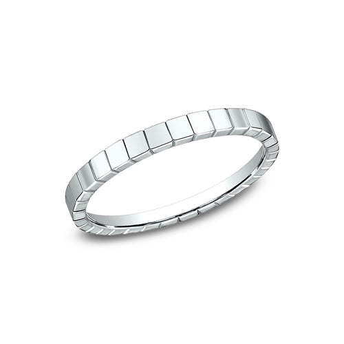 Benchmark Comfort Fit High Polished Square Carved Design Wedding Band 62901