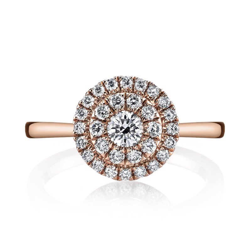 Mars Jewelry 14K Rose Gold Fashion Ring w/ Diamond Cluster Center 26633
