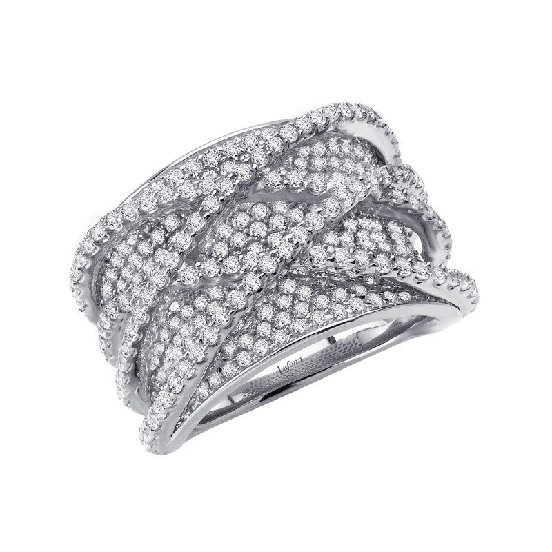 Lafonn Signature Lassaire Simulated Diamond Luxurious Multiple Crossing Ring 7R007CLP05