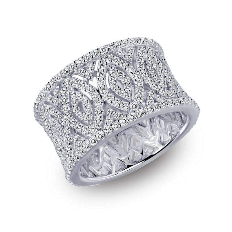Lafonn Signature Lassaire Simulated Diamond Art Deco Inspired Ring 7R015CLP05