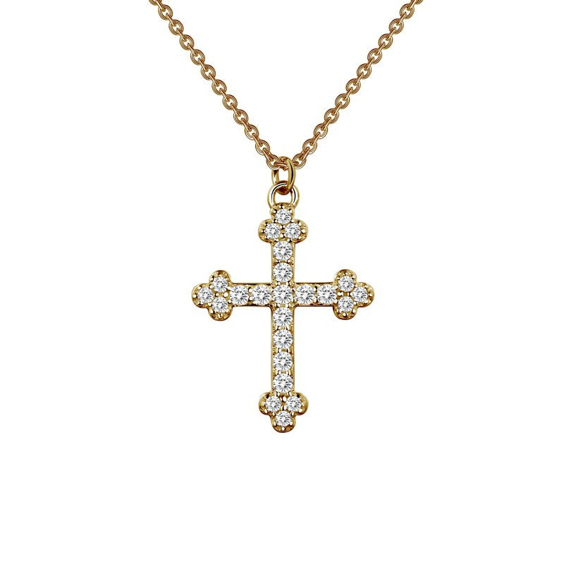 Lafonn Signature Lassaire Simulated Diamond Cross Necklace 9N025CLG18