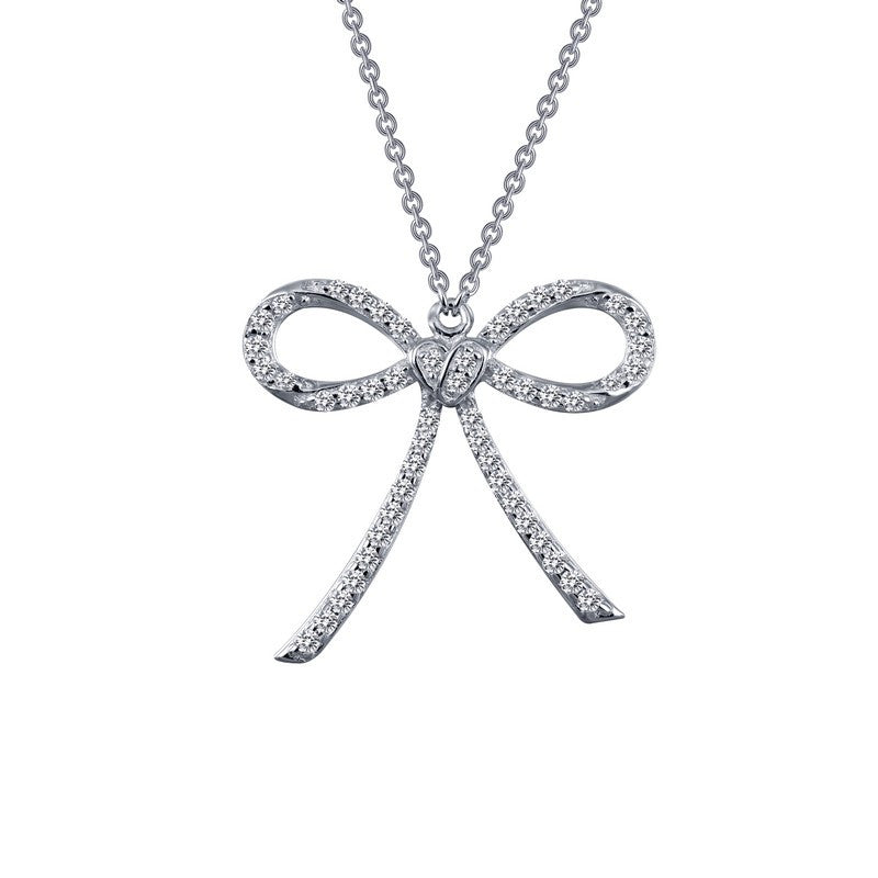 Lafonn Signature Lassaire Simulated Diamond Bow Necklace 9N053CLP18
