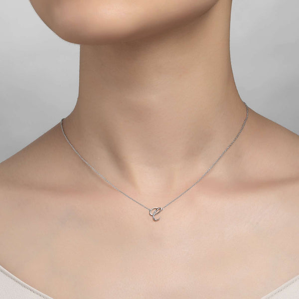 "Lafonn Signature Lassaire Simulated Diamond ""C"" Letter Pendant Necklace 9N067CLP18"