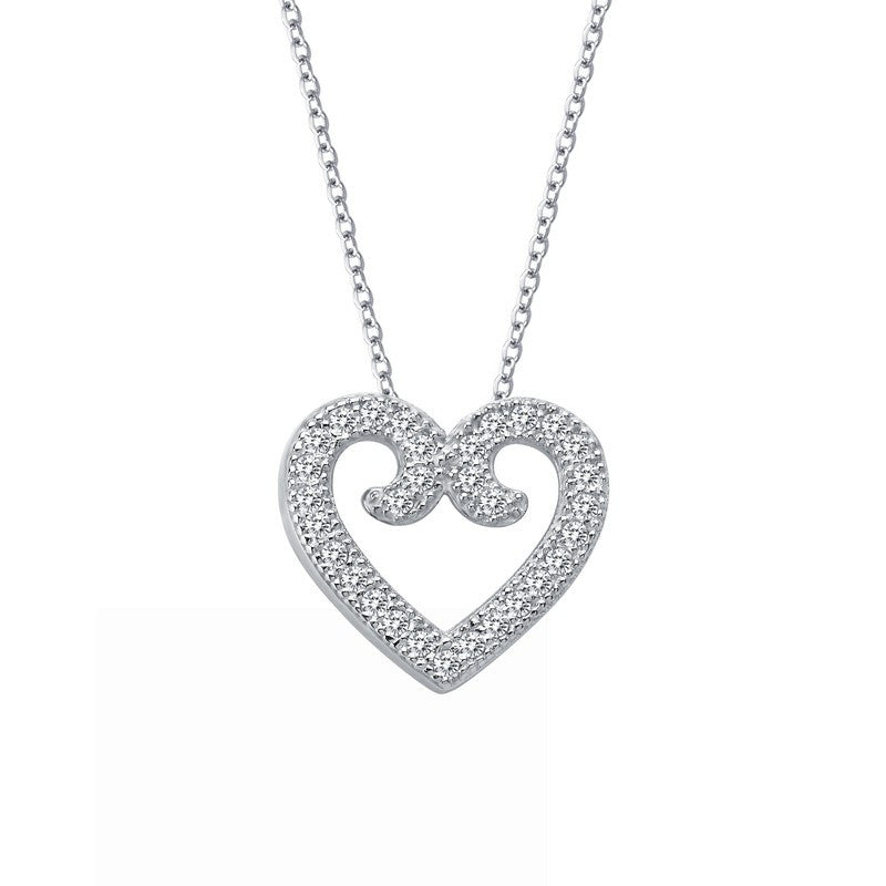 Lafonn Signature Lassaire Simulated Diamond Heart Necklace 9P013CLP18