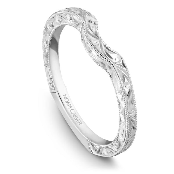 Noam Carver Hand Engraved Wedding Band B001-02EB