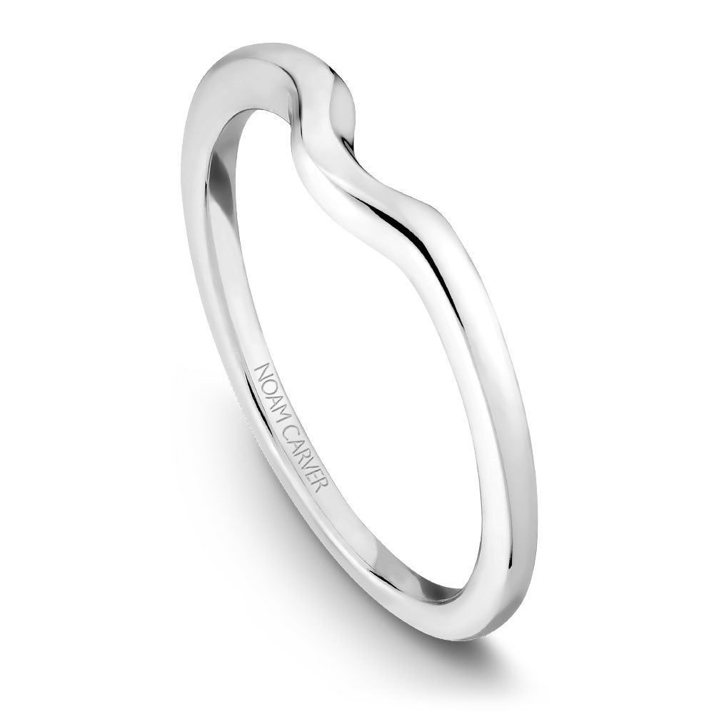 Noam Carver Solitaire Wedding Band B002-02B