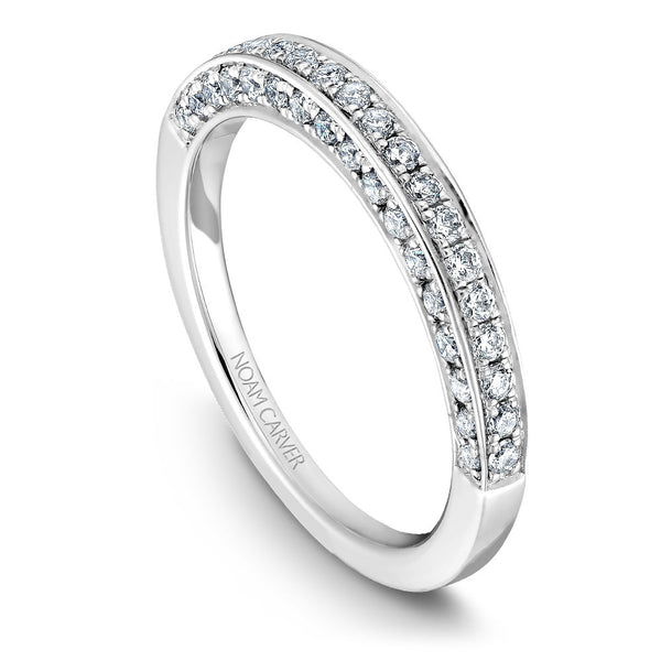 Noam Carver Diamond Wedding Band B003-01B