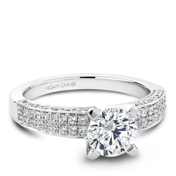 Noam Carver Micro Pavé Diamond Engagement Ring B003-02A