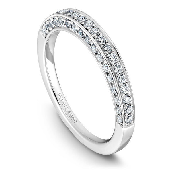 Noam Carver Micro Pavé Diamond Wedding Band B003-02B
