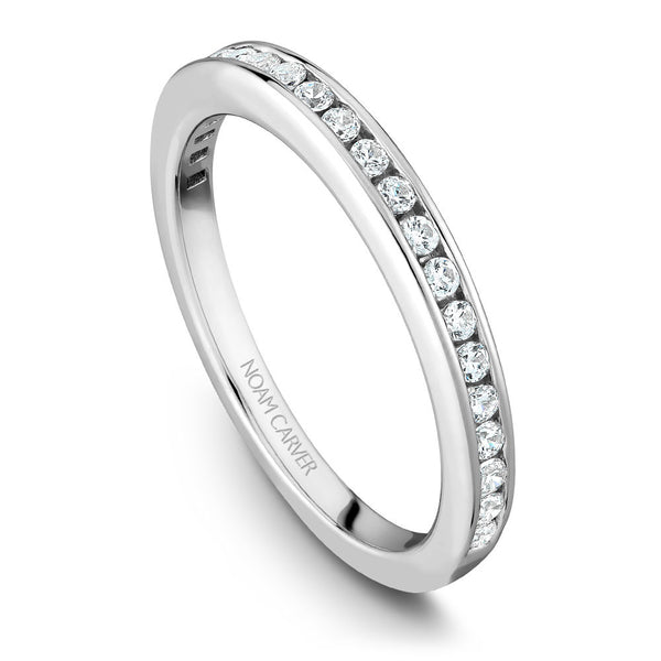 Noam Carver Channel Set Diamond Wedding Band B006-01B