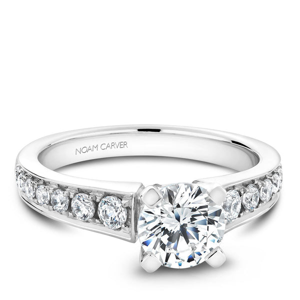 Noam Carver Channel Set Diamond Engagement Ring B006-01A