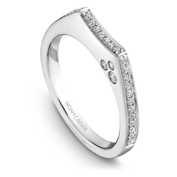 Noam Carver Micro Pavé Diamond Wedding Band B016-01B