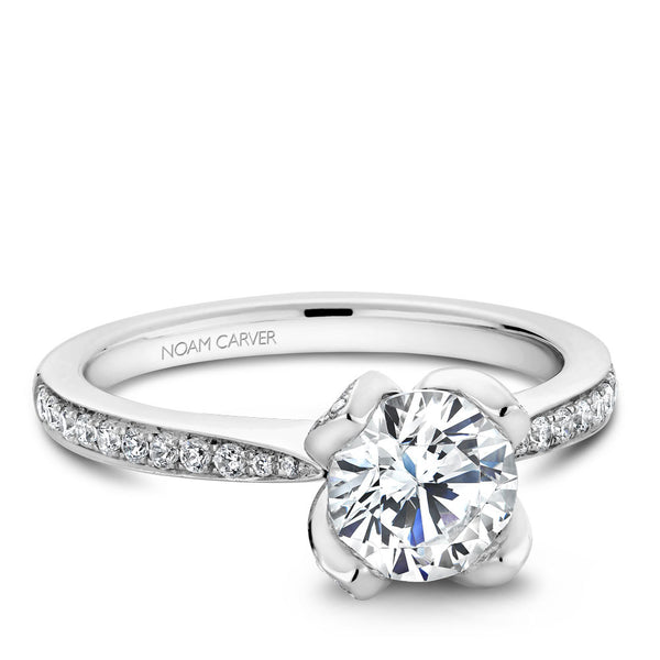 Noam Carver Floral Setting Diamond Engagement Ring B019-01A