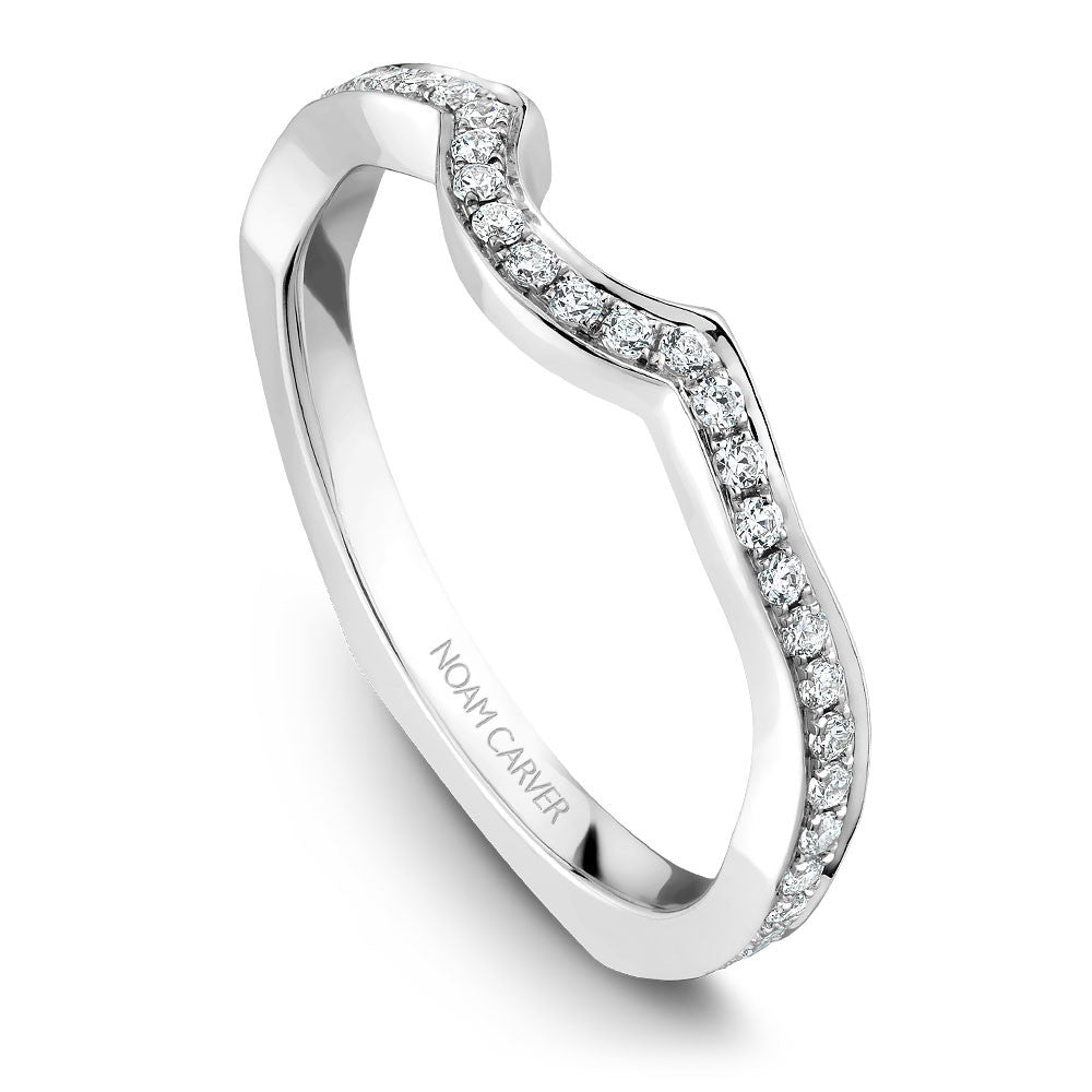 Noam Carver Micro Pavé Diamond Wedding Band B020-02B