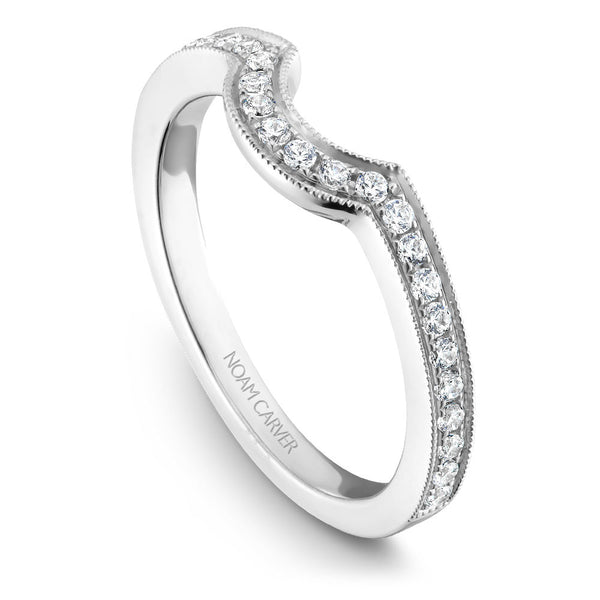 Noam Carver Micro Pavé Diamond Wedding Band B025-02B