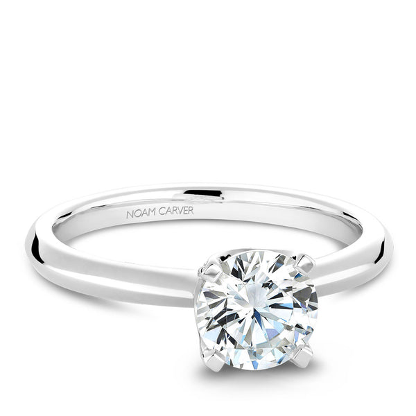 Noam Carver Solitaire with Diamond Detail Setting Engagement Ring B027-03A