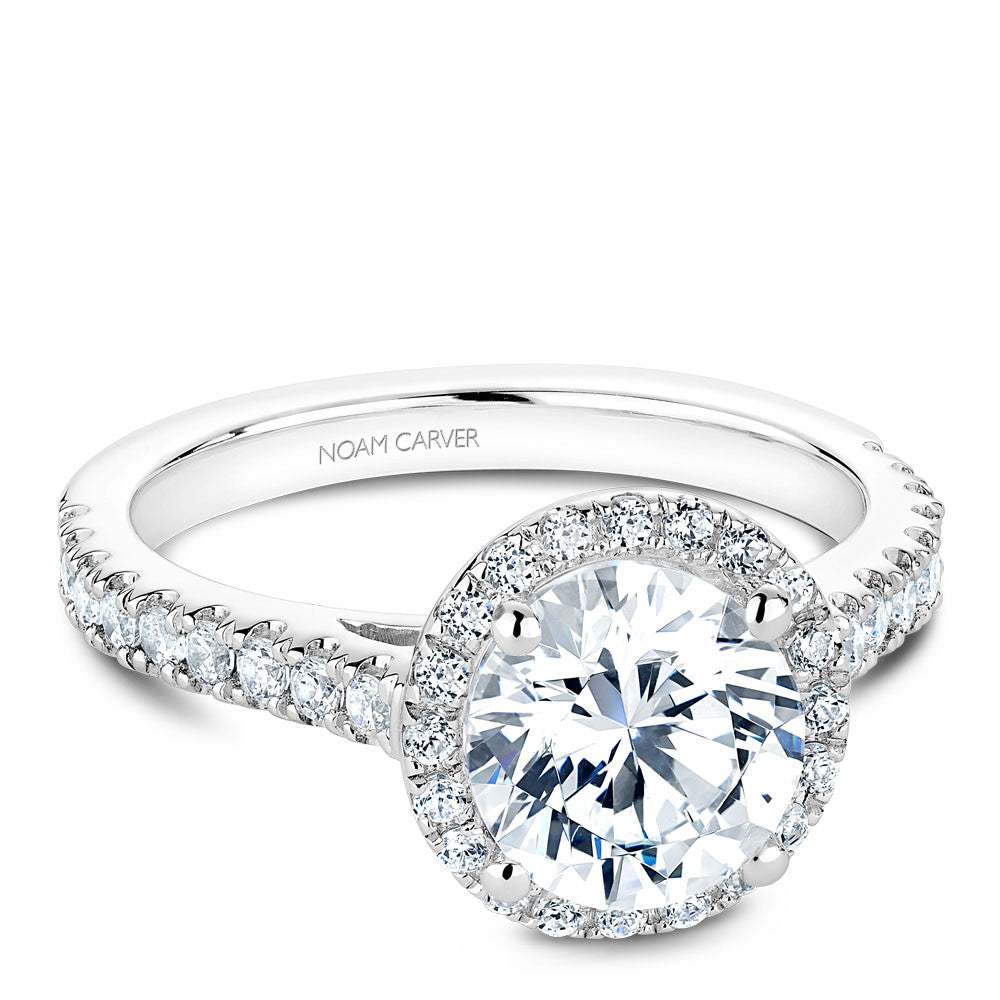 Noam Carver Diamond Halo Engagement Ring B034-03A