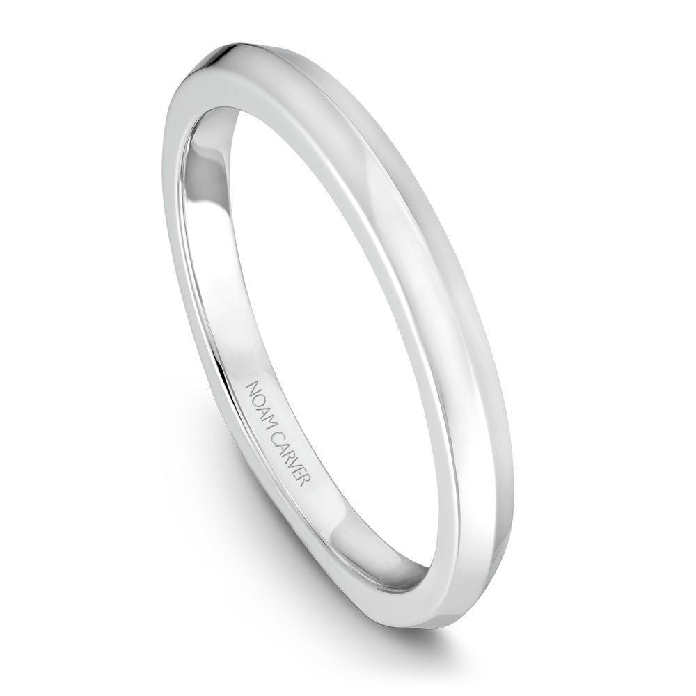 Noam Carver Solitaire Wedding Band B041-01B