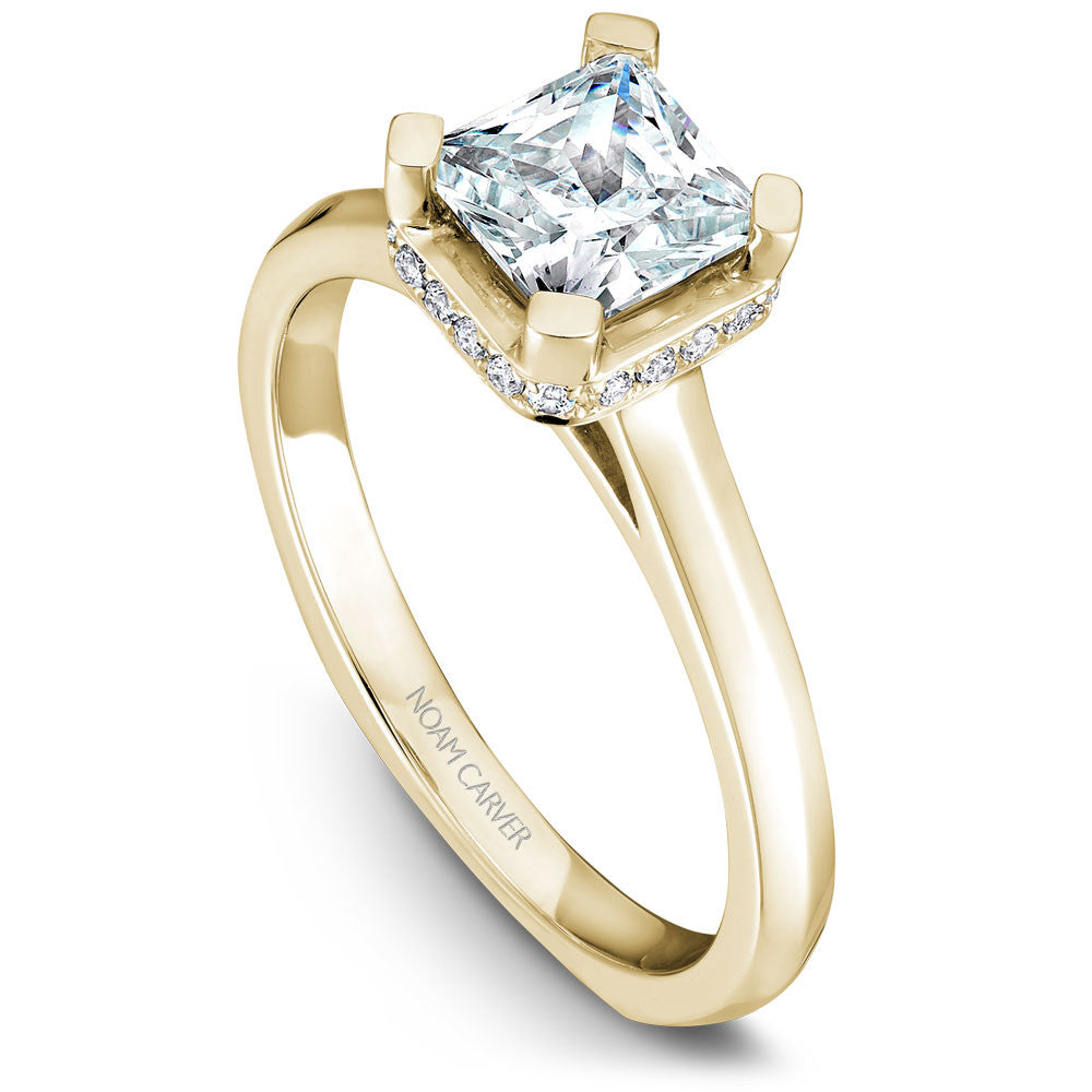 Noam Carver Soliatire with Diamond Detail Engagement Ring B041-01A