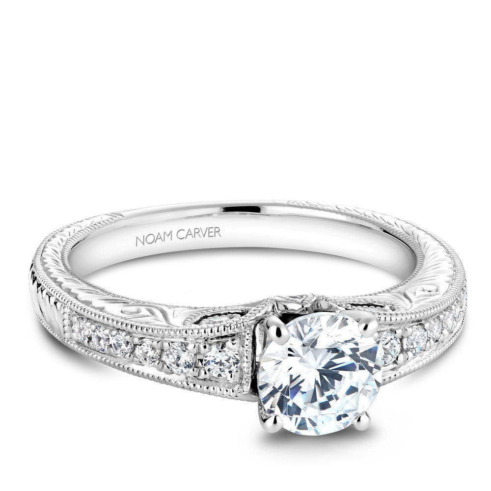 Noam Carver Vintage Inspired Diamond Engagement Ring B050-01A