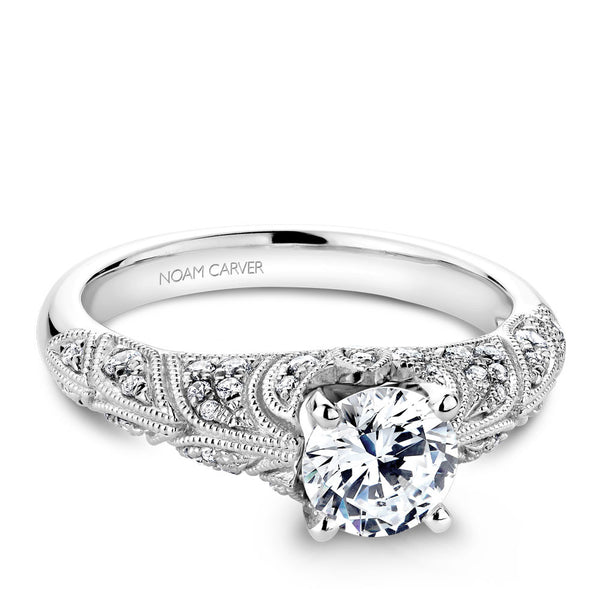 Noam Carver Vintage Inspired Diamond Engagement Ring B056-01A