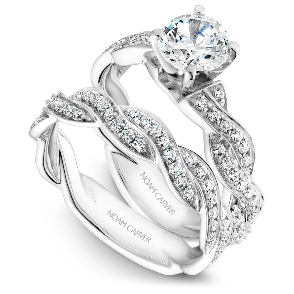 Noam Carver Braided Encrusted Diamond Engagement Ring B059-01A