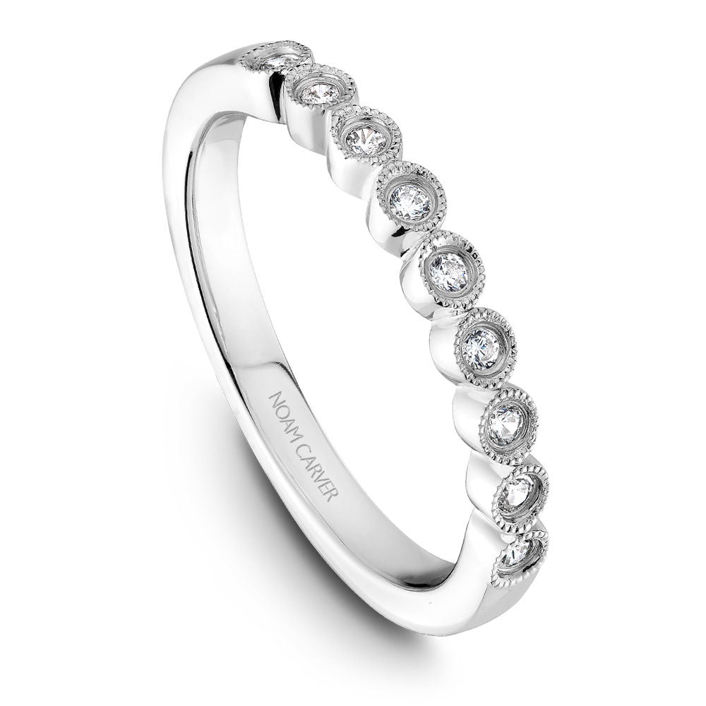 Noam Carver Vintage Inspired Micropavé Diamond Wedding Band B068-01B