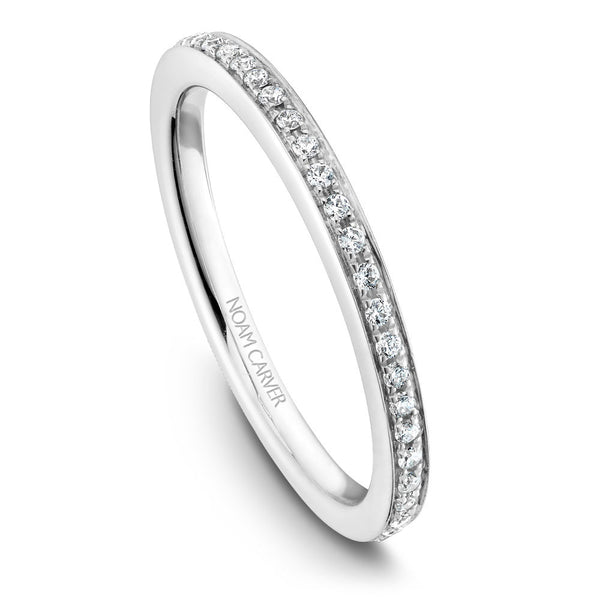 Noam Carver Micropavé Diamond Wedding Band B095-02B