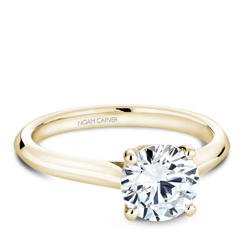 Noam Carver Solitaire with Diamond Detail Engagement Ring B143-01YM